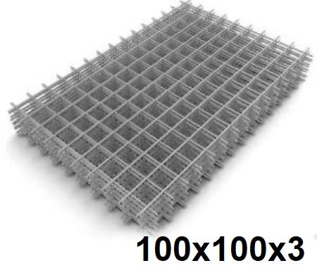 Сетка кладочная сварная 100х100х3мм (карта)