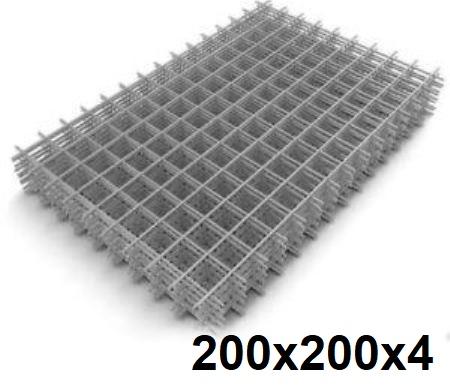 Сетка кладочная сварная 200х200х4мм (карта)