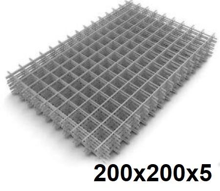 Сетка кладочная сварная 200х200х5мм (карта)